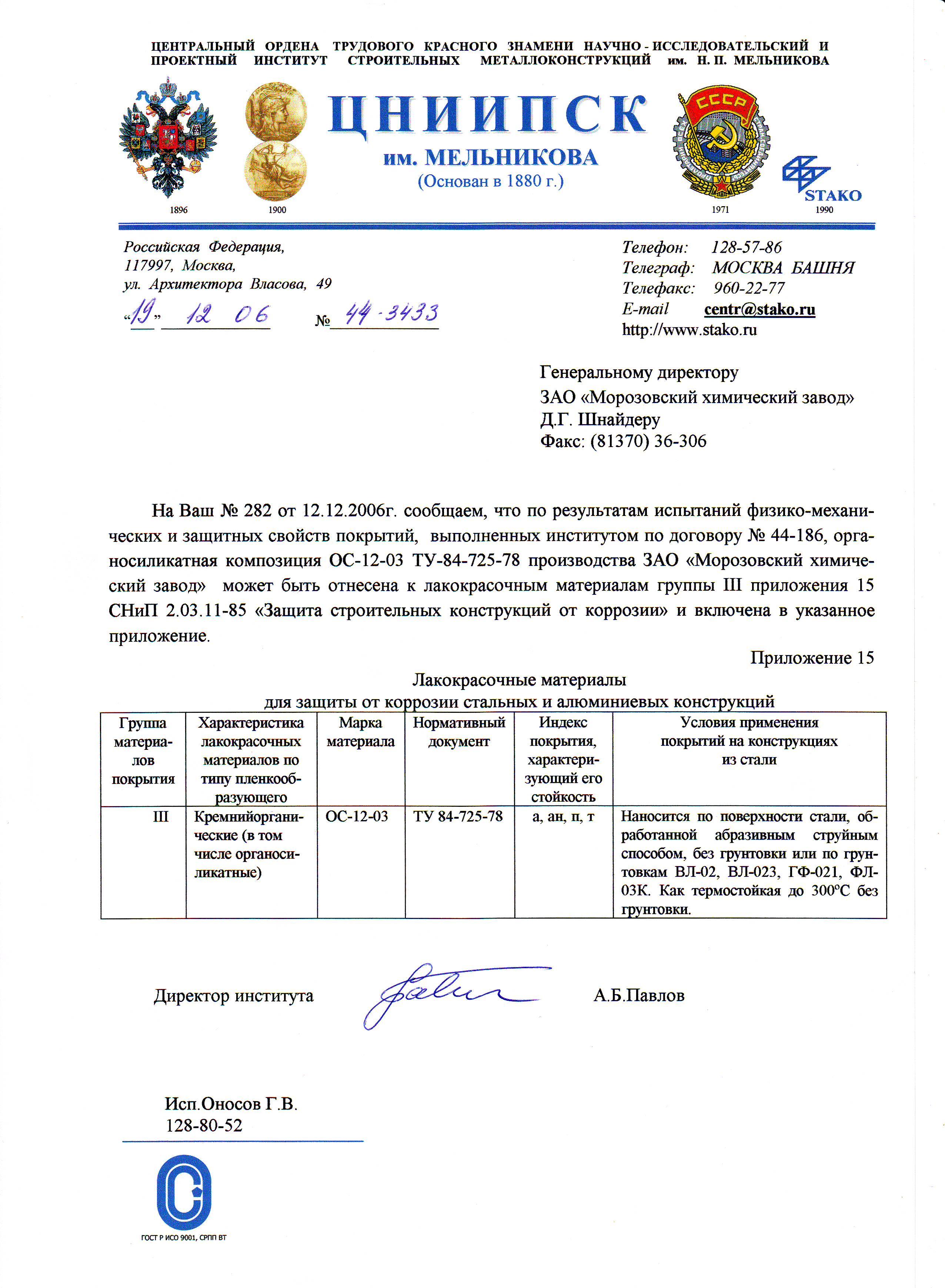 ЦНИИПСК им.Мельникова СНиП