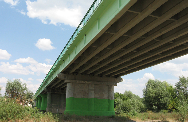 Мост через р. Ворону в Кирсановском районе Тамбовской области 3