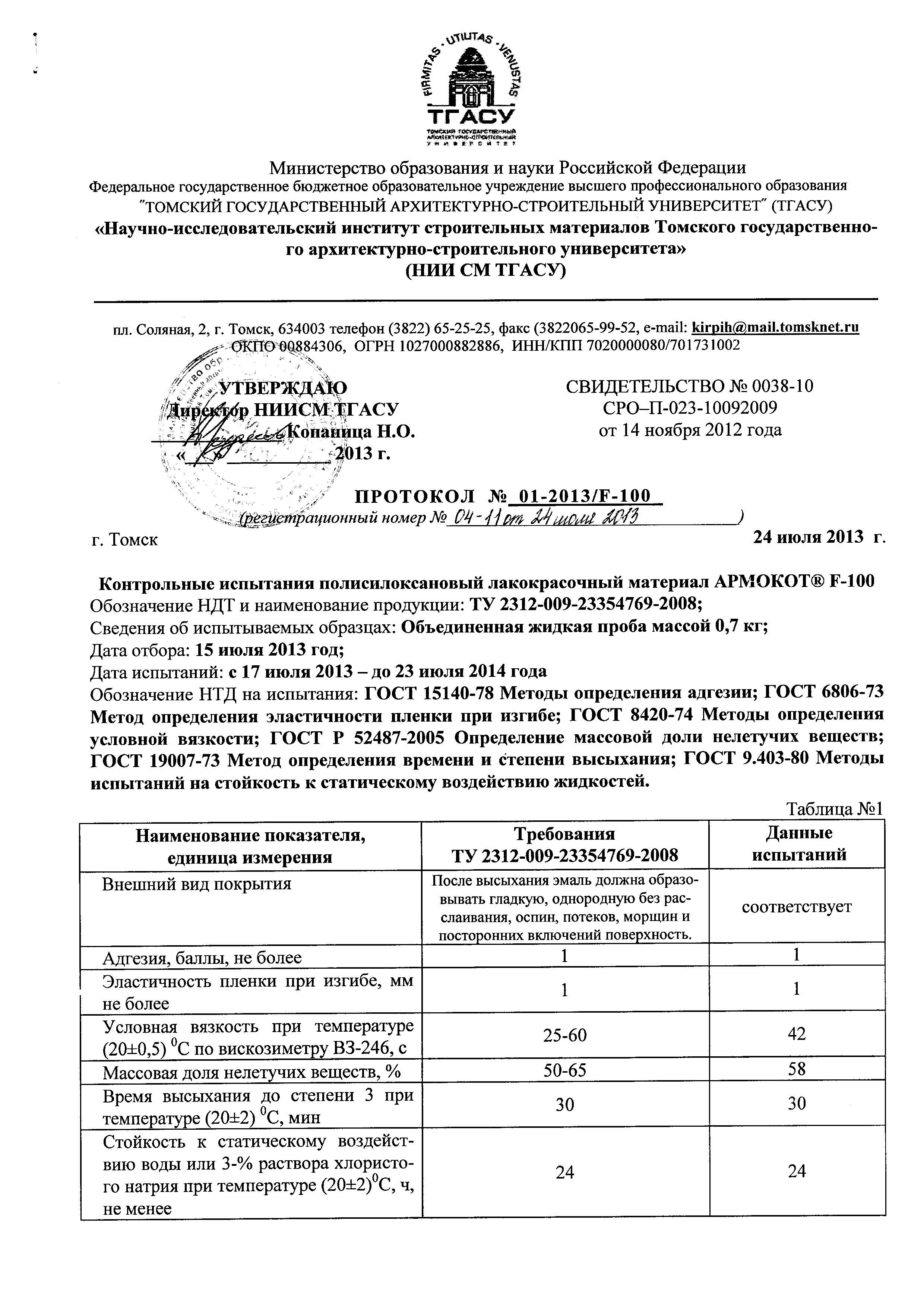 Протокол_АРМОКОТ F100_Страница_1