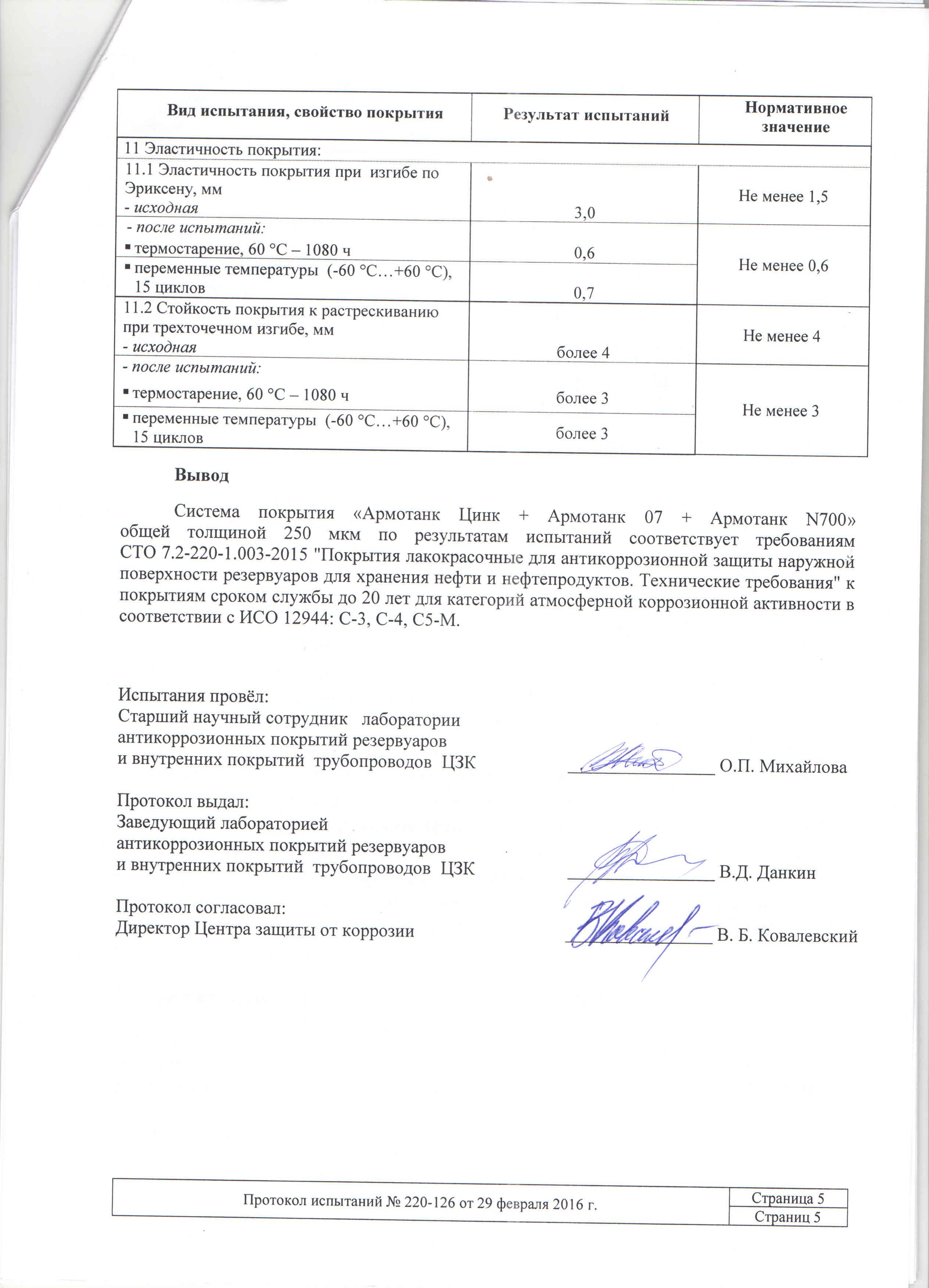 ВНИИСТ Цинк+07+N700 для резервуаров; С-3,С-4,С5-М-20 лет+Протокол №220-126_Страница_6
