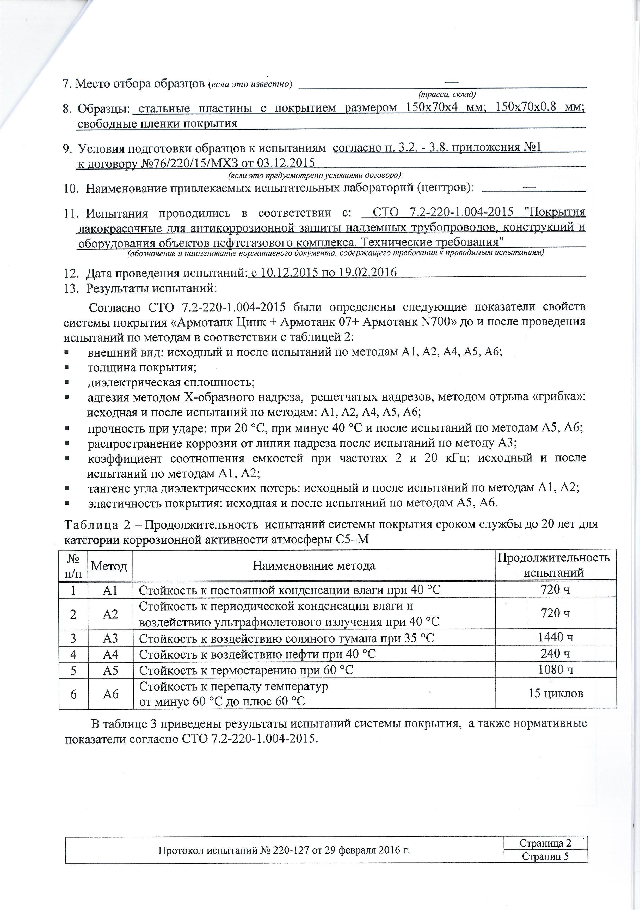 ВНИИСТ Цинк+07+N700 для трубопроводов; С-3,С-4,С5-М-20 лет+Протокол №220-127_Страница_3